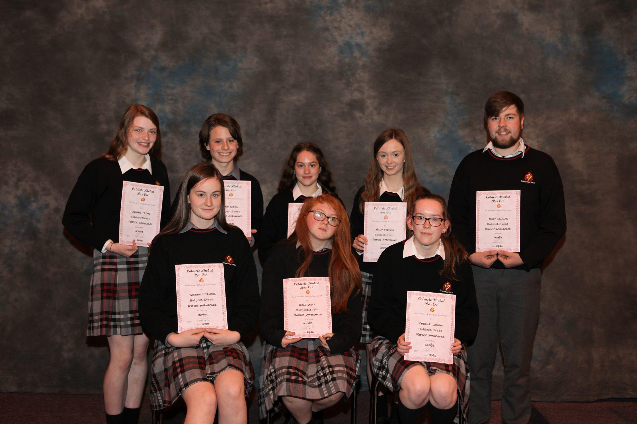 School Awards – Coláiste Phobal Ros Cré